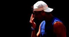 Rafael Nadal, durante un entrenamiento en Roland Garros, donde busca su Grand Slam número 21