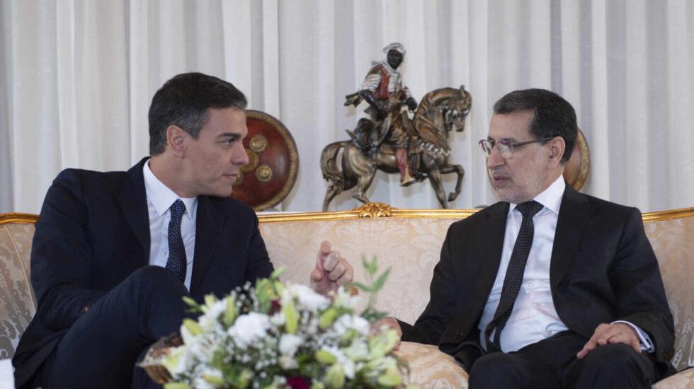 El presidente del Gobierno Pedro Sánchez y el primer ministro marroquí, Saadeddine Othmani, en un encuentro en Rabat en noviembre de 2018.