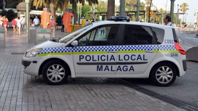 Vehículo de la Policía Local de Málaga.