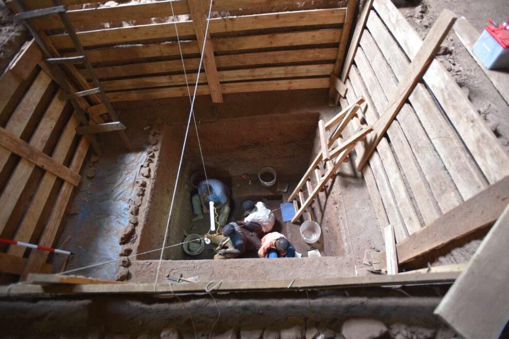 Excavación en el yacimiento de de  Panga ya Saidi.