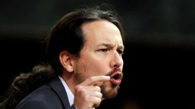 Pablo Iglesias interviene en el Parlamento español como líder de Unidas Podemos
