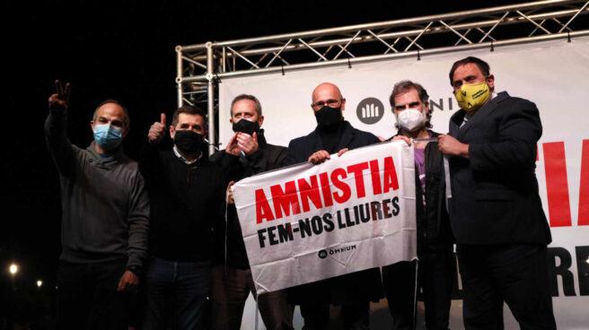 Acto público de los presos del 1-O: Turull, Sánchez, Forn, Romeva, Cuixart y Junqueras.