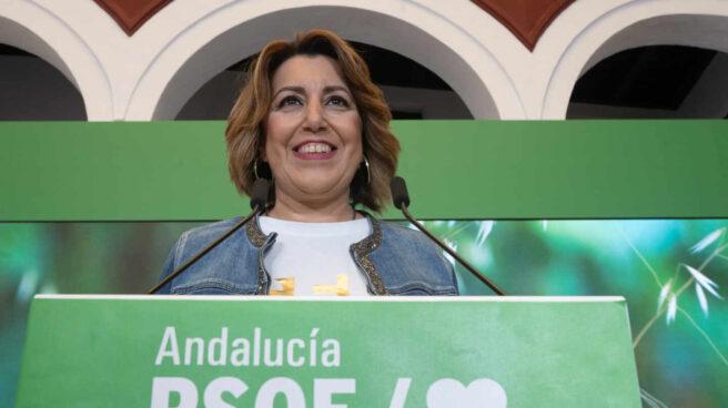 Susana Díaz, tras la Ejecutiva regional en Sevilla.