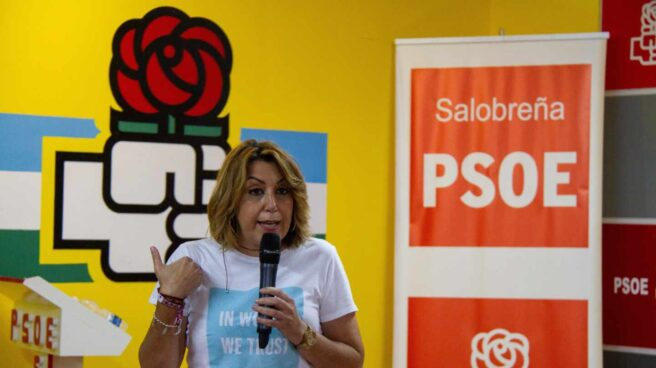 Susana Díaz, en Salobreña (Granada).