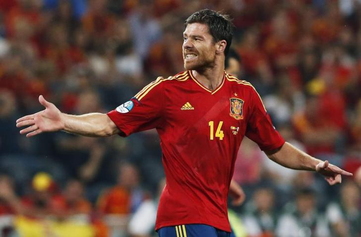 Xabi Alonso, durante un partido de la Eurocopa 2012