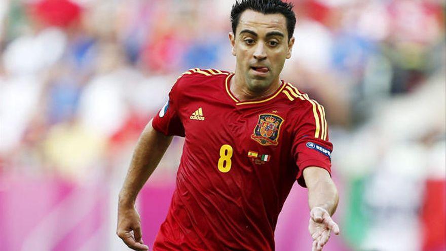 Xavi Hernández, durante la Eurocopa de 2012