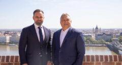 Santiago Abascal y el presidente de Hungría Viktor Orban, reunidos en Budapest.