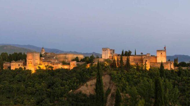 Imagen panorámica de la Alhambra (Granada).