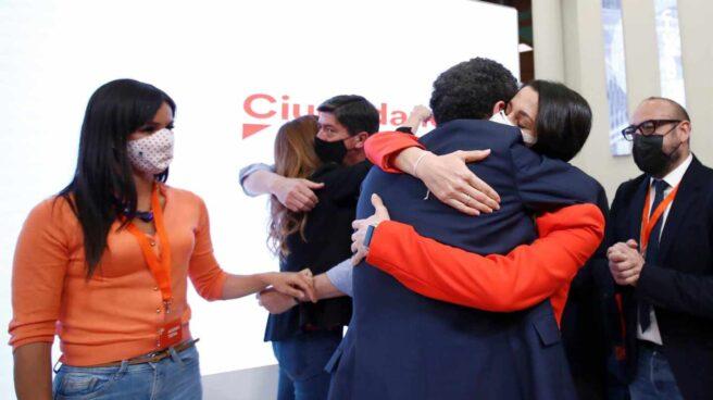 La presidenta de Ciudadanos, Inés Arrimadas; y el candidato de Cs, Edmundo Bal.
