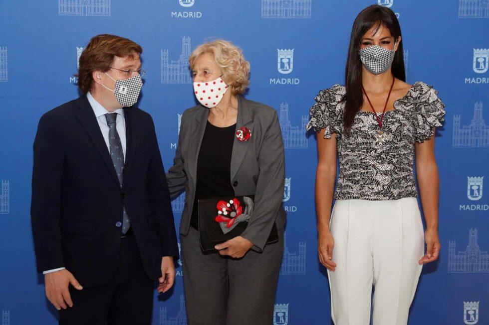 Almeida, Manuela Carmena y Begoña Villacís