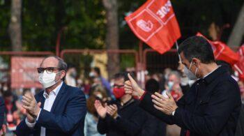 Pedro Sánchez compara a Ángel Gabilondo con Biden y azuza el miedo a Vox