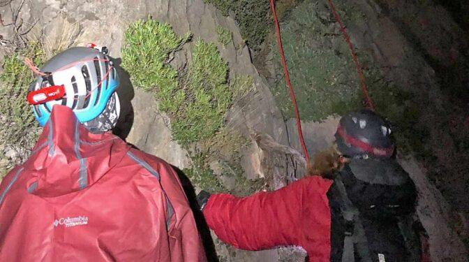 Ocho horas de rescate nocturno de dos escaladores en Alicante