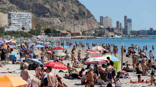 Playa del Postiguet en Alicante.