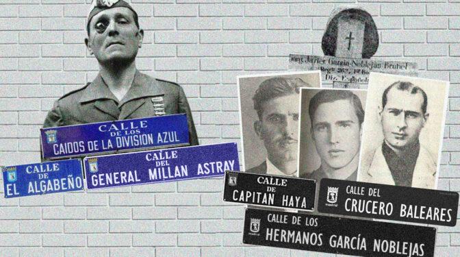 El callejero franquista: ¿por qué Capitán Haya no y Millán Astray sí?