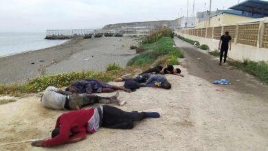 La Guardia Civil recupera un segundo cadáver en aguas del Tarajal (Ceuta)