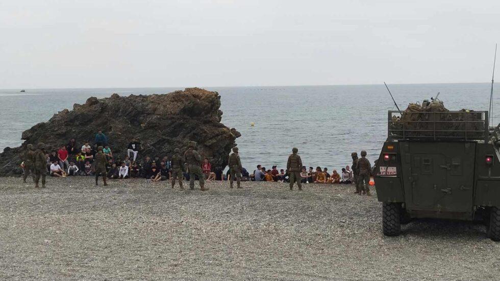 Unidades del Ejército de Tierra se despliegan por varias zonas de Ceuta