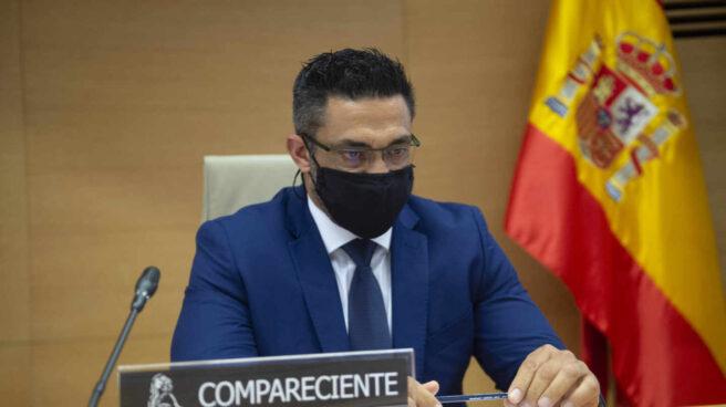 Sergio Ríos, ex chófer de la familia Bárcenas, este jueves en el Congreso de los Diputados.