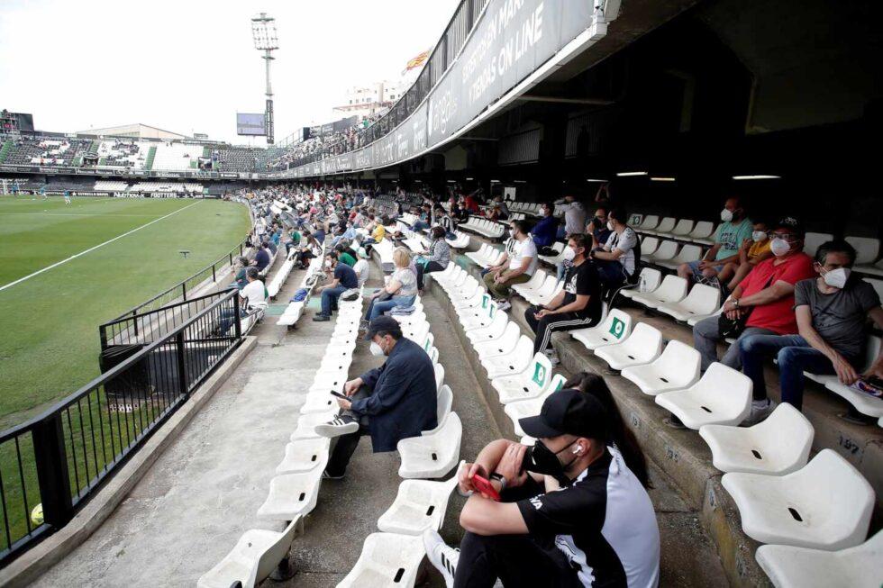 El estadio del Castellón fue el primero de las ligas profesionales que abrió al público tras la pandemia