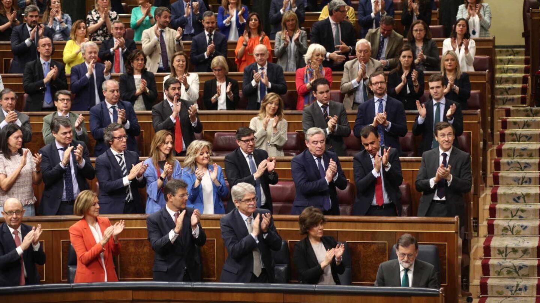 Fotografía de archivo. Debate de la moción de censura contra Mariano Rajoy.
