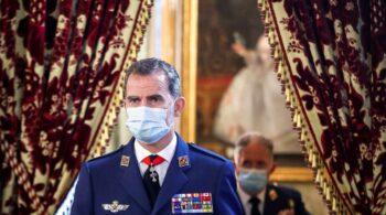 Felipe VI se vacunó este sábado contra el covid en Madrid