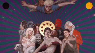 Ayuso es la Virgen y C. Tangana es Jesús en una obra de la feria ArtMadrid