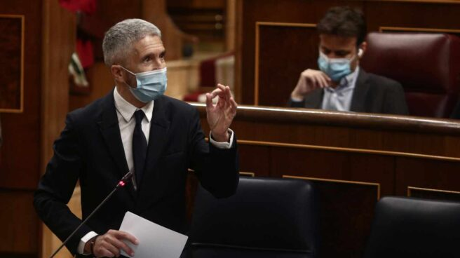 El ministro del Interior, Fernando Grande-Marlaska, interviniendo en el Congreso de los Diputados.