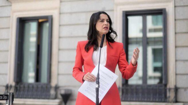 La líder de Ciudadanos, Inés Arrimadas, en el Congreso.