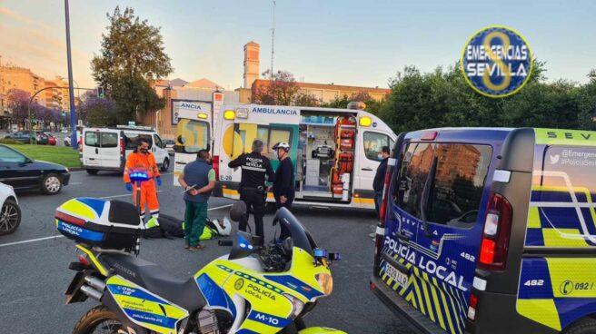 El herido atendido por los efectivos de emergencias