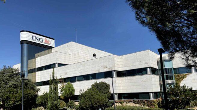 Exterior de la sede central de ING, en las Rozas (Madrid)
