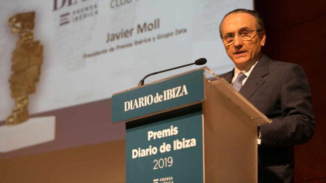 Javier Moll, presidente de Prensa Ibérica, durante un acto de uno de sus periódicos