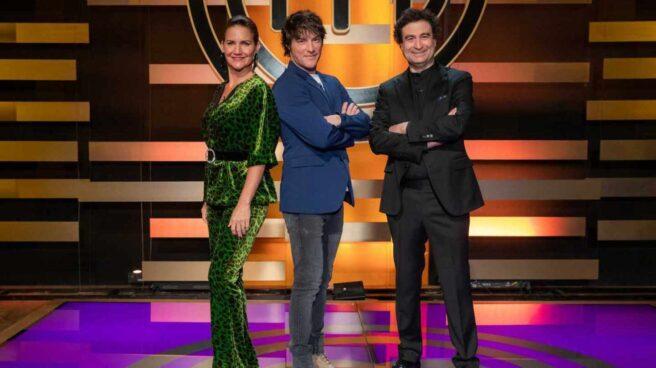 Samantha Vallejo-Nágera, Jordi Cruz y Pepe Rodríguez, integrantes del jurado de 'Masterchef'.