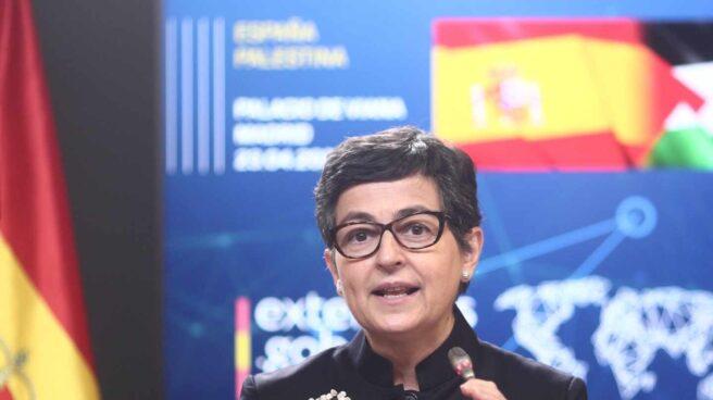 La ministra de Asuntos Exteriores, UE y Cooperación, Arancha González Laya, en una comparecencia informativa.