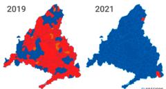 El PP de Ayuso tiñe de azul toda la Comunidad de Madrid