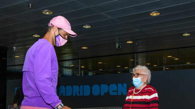 Rafael Nadal junto a Manuela Navarro