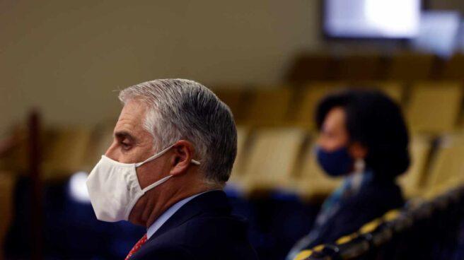 El actual consejero delegado de Unicredit, Andrea Orcel, durante el juicio por la demanda contra el Banco Santander.