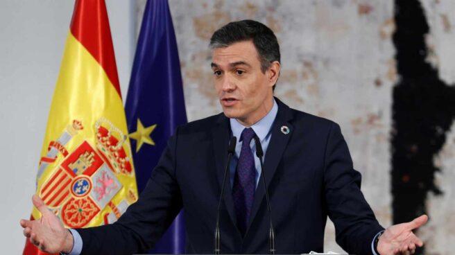 El presidente del Gobierno, Pedro Sánchez, en Moncloa.