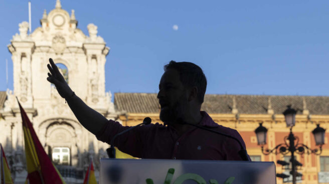 El líder de Vox, Santiago Abascal, en Ceuta.