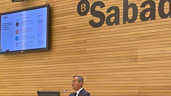 César González-Bueno, consejero delegado de Sabadell, en la presentación del plan estratégico
