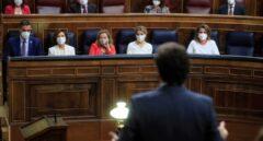 Casado interviene durante la sesión de control al Gobierno