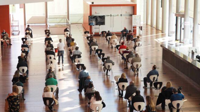 Vacunación contra el Covid en el Centro Cultural Miguel Delibes, Valladolid (Castilla y León)
