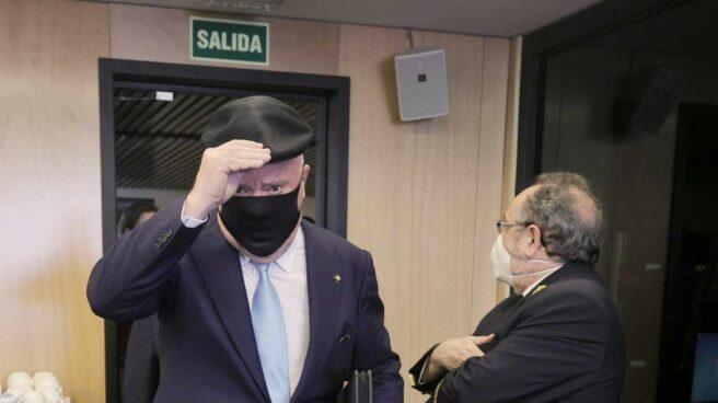 El comisario jubilado José Manuel Villarejo, a su llegada este jueves al Congreso de los Diputados.