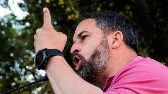 El líder de Vox, Santiago Abascal, durante un acto en Sevilla.