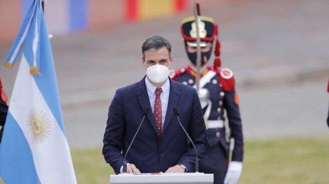 Pedro Sánchez, en Buenos Aires.