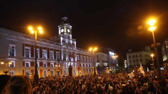 Protesta en la Puerta del Sol de Madrid.
