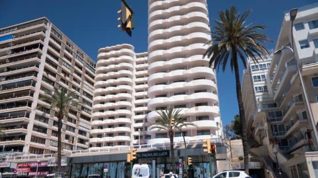 Vista del hotel covid de Palma de Mallorca.