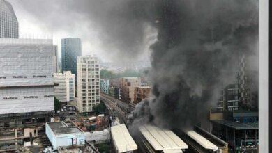 Un gran incendio estalla cerca de la estación Elephant and Castle de Londres
