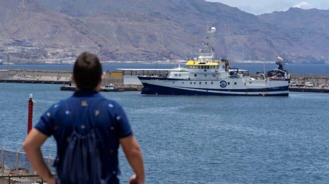 El buque del Instituto Español de Oceanografía Ángeles Alvariño.