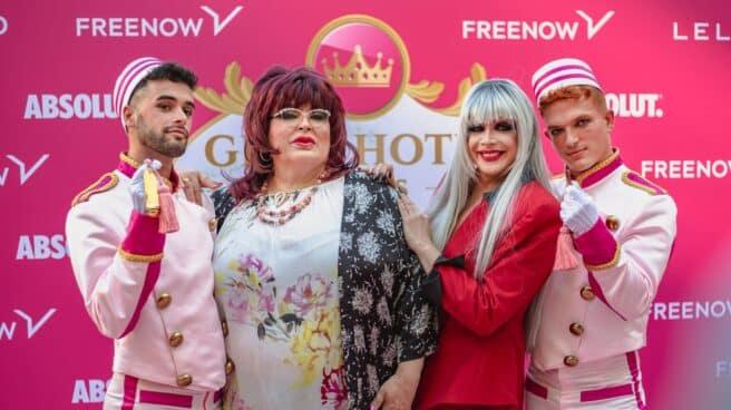 Rueda de prensa de presentación de 'Gran Hotel de las Reinas' con Paca la Piraña y Supremme de Luxe.