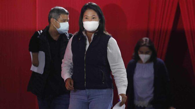 El fiscal pide el arresto de Keiko Fujimori