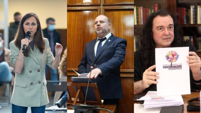 Ione Belarra, Esteban Tettamanti y Fernando Barredo.